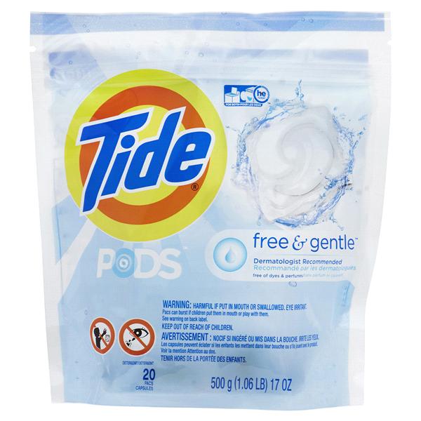tide pods laundry detergent free gentle 20 pk meijer com