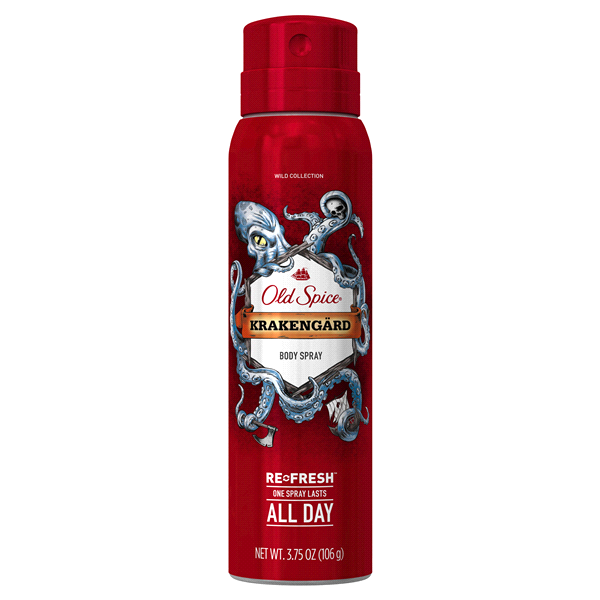 Old Spice Body Spray Wild Collection Krakengard 375 Oz Meijer
