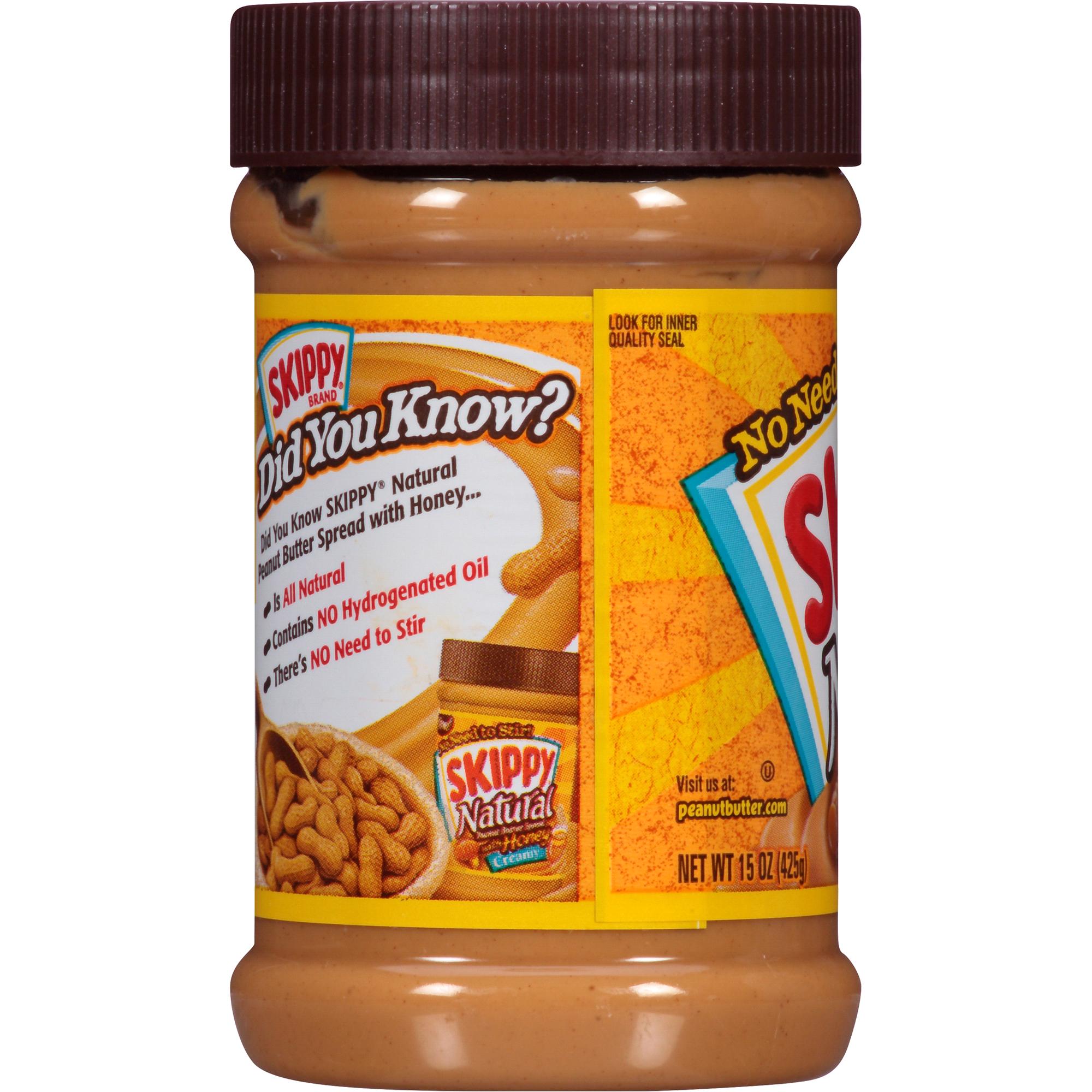 Skippy Natural Peanut er Spread with Honey 15 oz | Meijer.com on