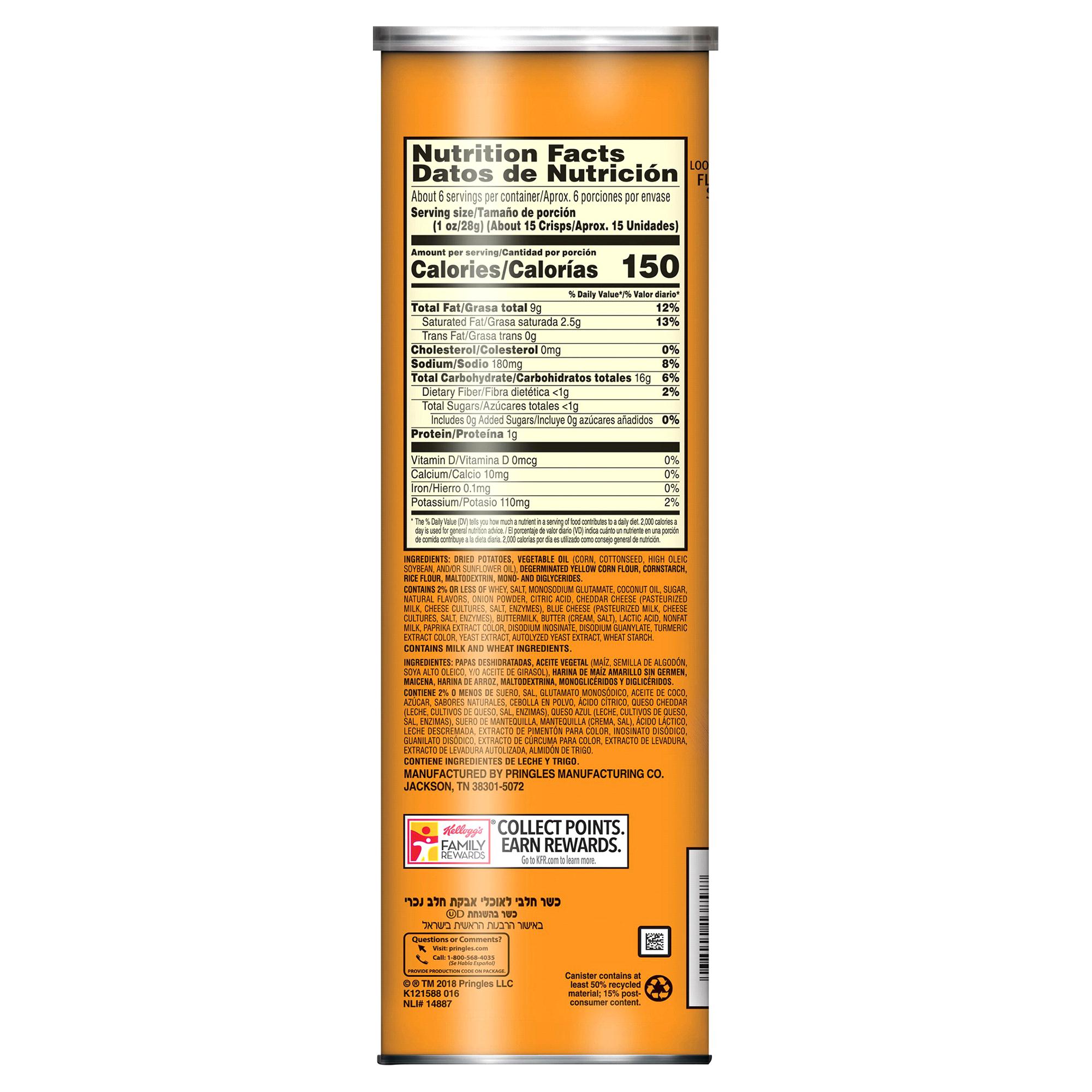 Pringles Cheddar Cheese Potato Crisps Super Stack 6 38 oz