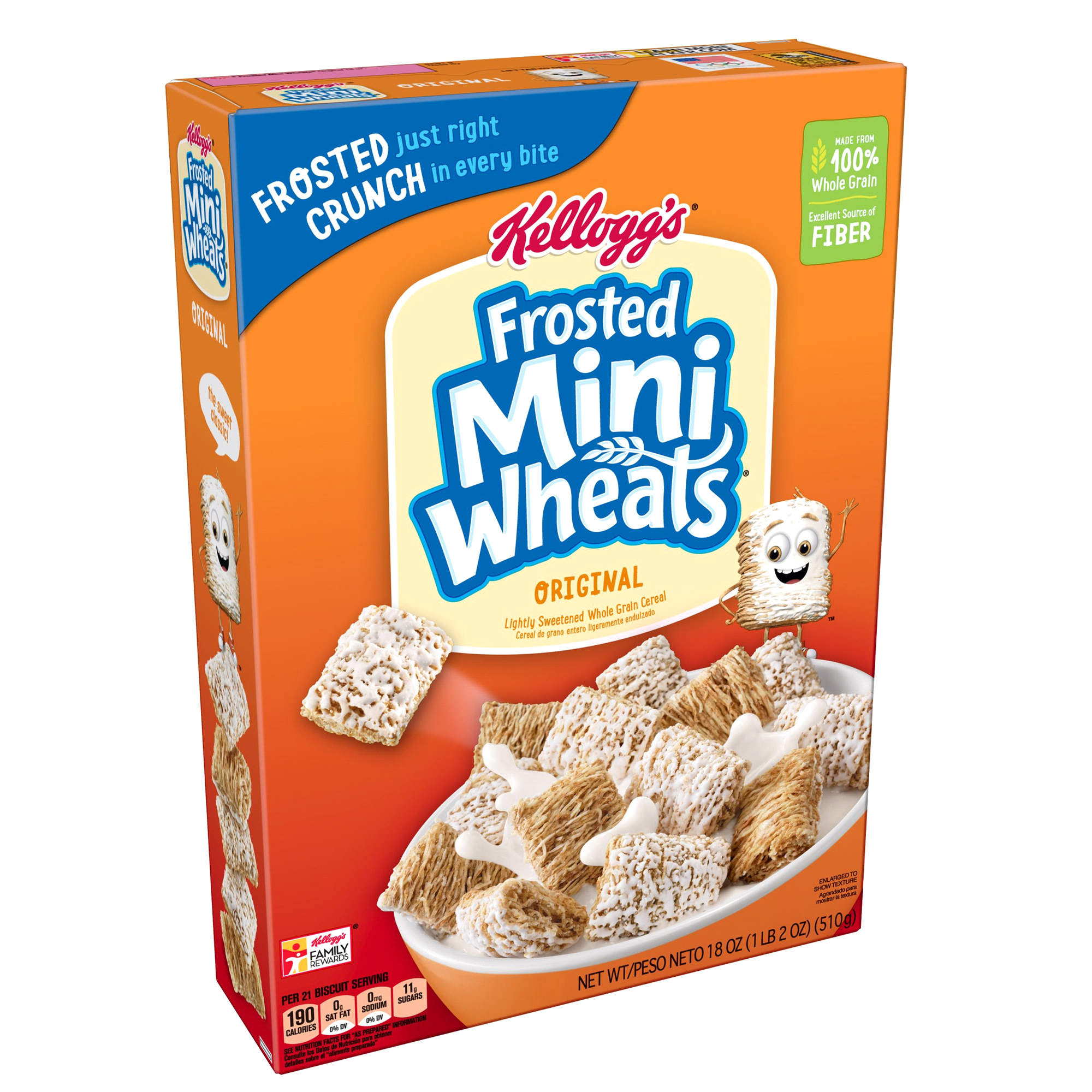 kelloggs frosted mini-wheats bite size cereal 18 oz | meijer