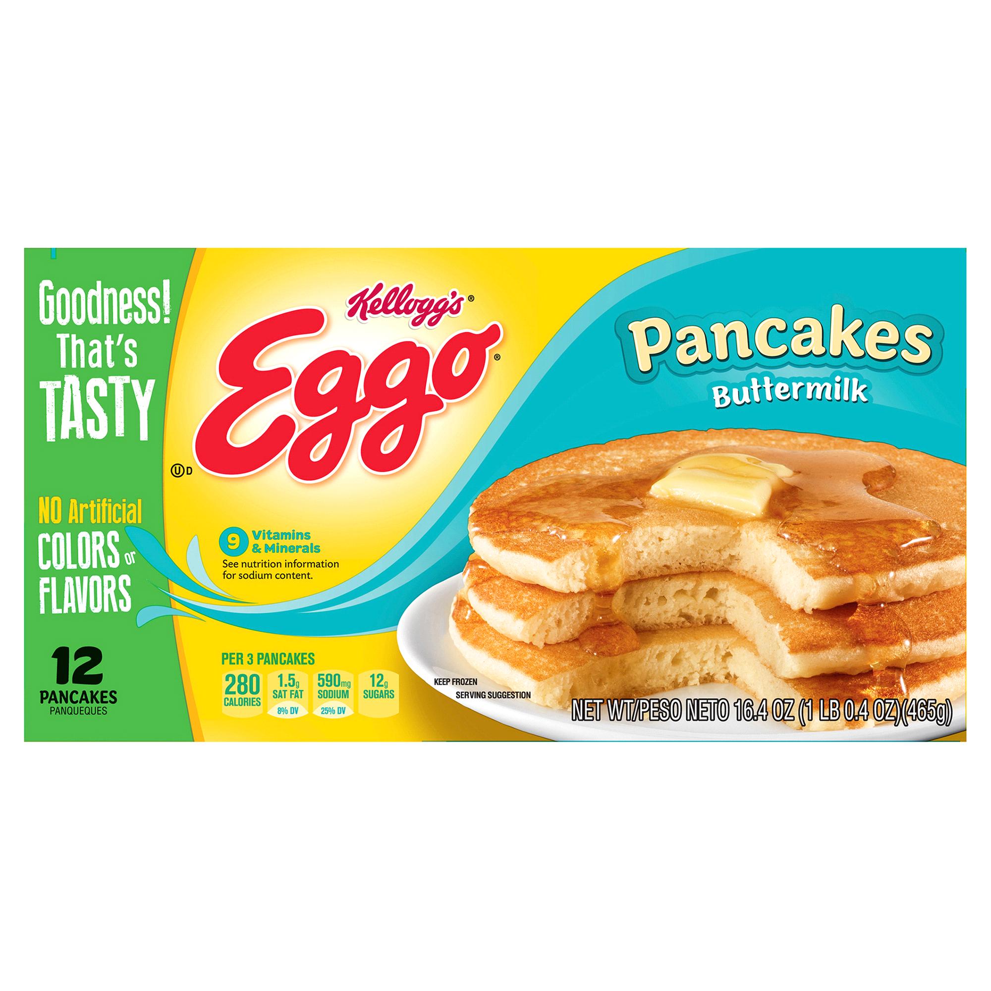 Kelloggs Eggo Buttermilk Pancakes 12 Count 16 4 OZ