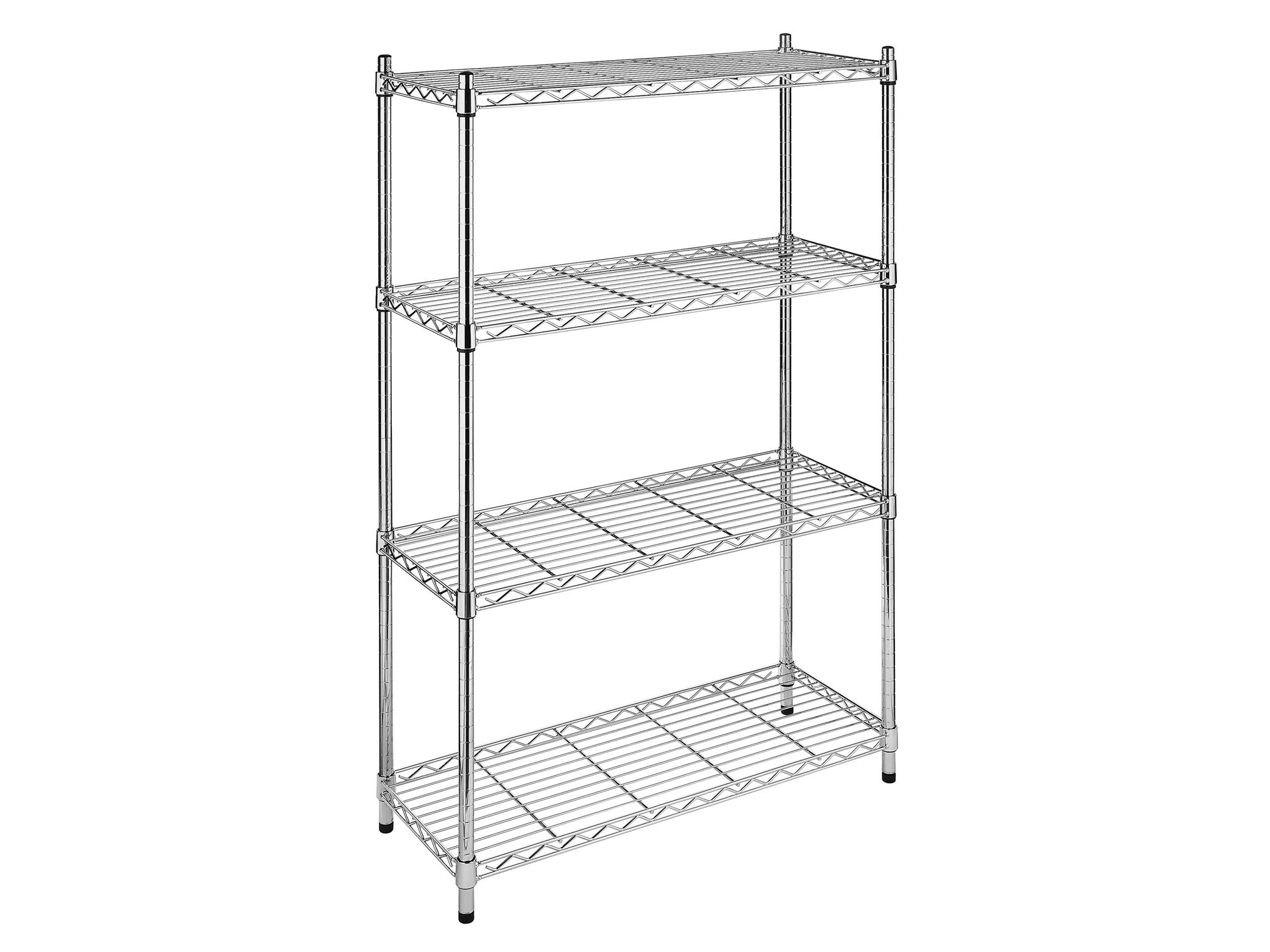 Whitmor Supreme 4-Tier Wire Shelving Unit Chrome | Meijer.com