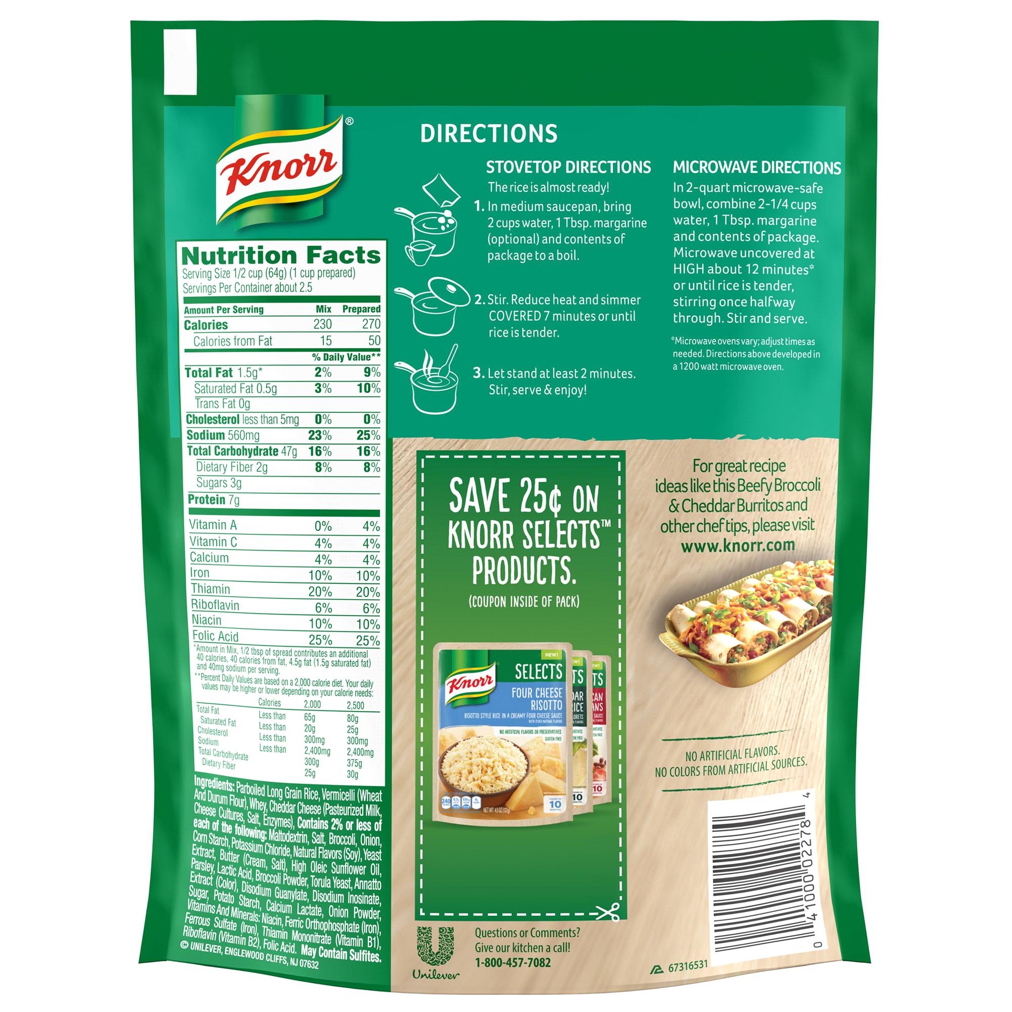 Knorr Cheddar Broccoli Rice Side Dish 57 Oz Happy Baby Organic Puffs Combo A Apple Banana Pumpkin