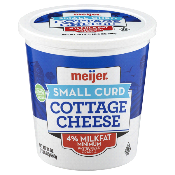 meijer small curd cottage cheese 24 oz meijer com