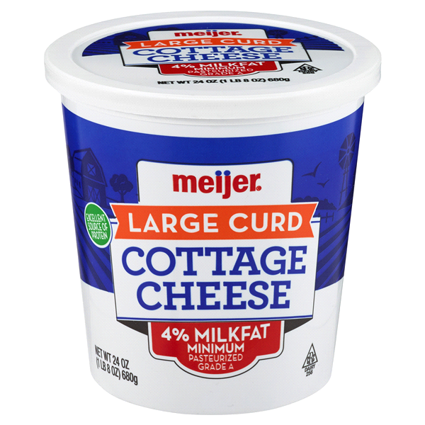 Meijer Large Curd Cottage Cheese 24 Oz