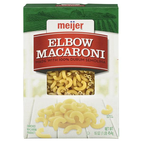 Meijer Pasta Elbow Macaroni 16 Oz