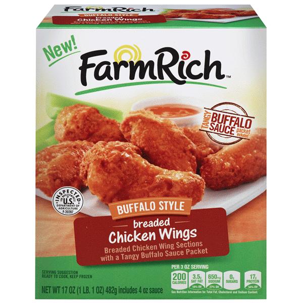 Farm Rich Buffalo Style Breaded Chicken Wings 17 Oz Meijer