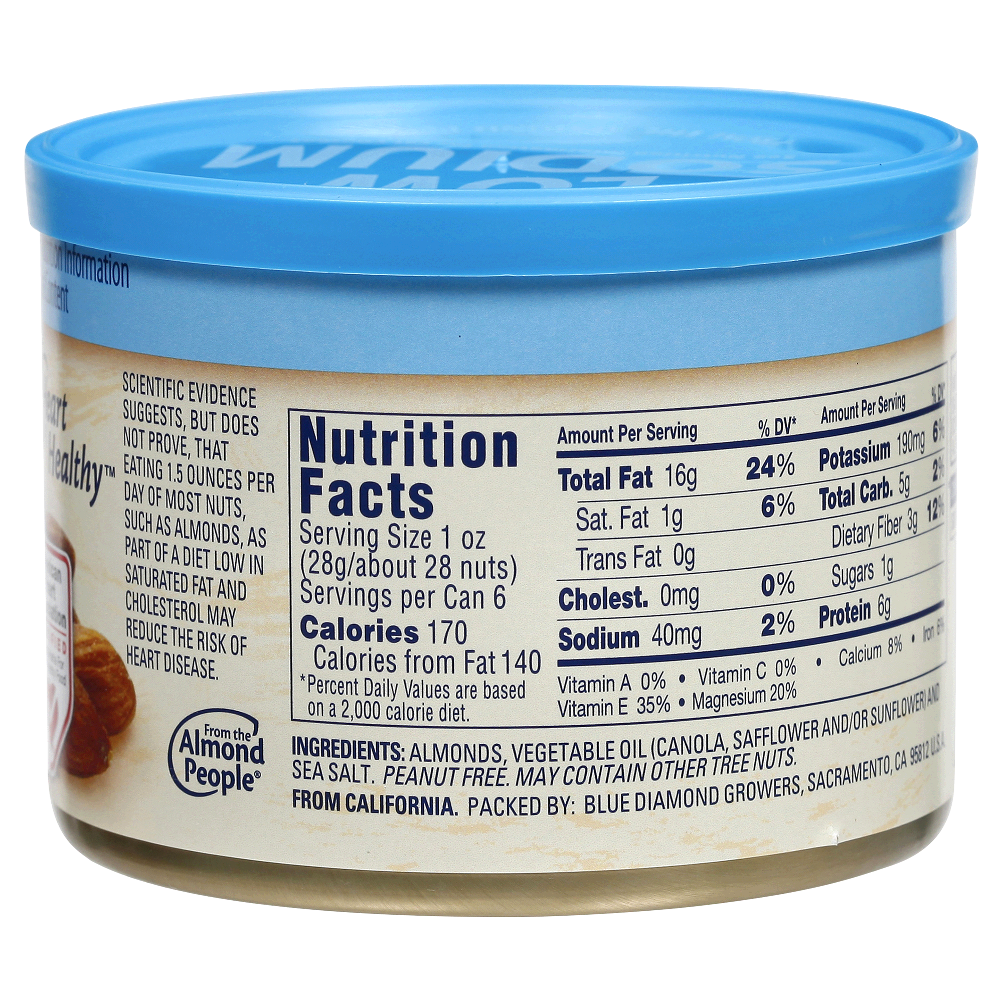Blue diamond almonds nutrition facts