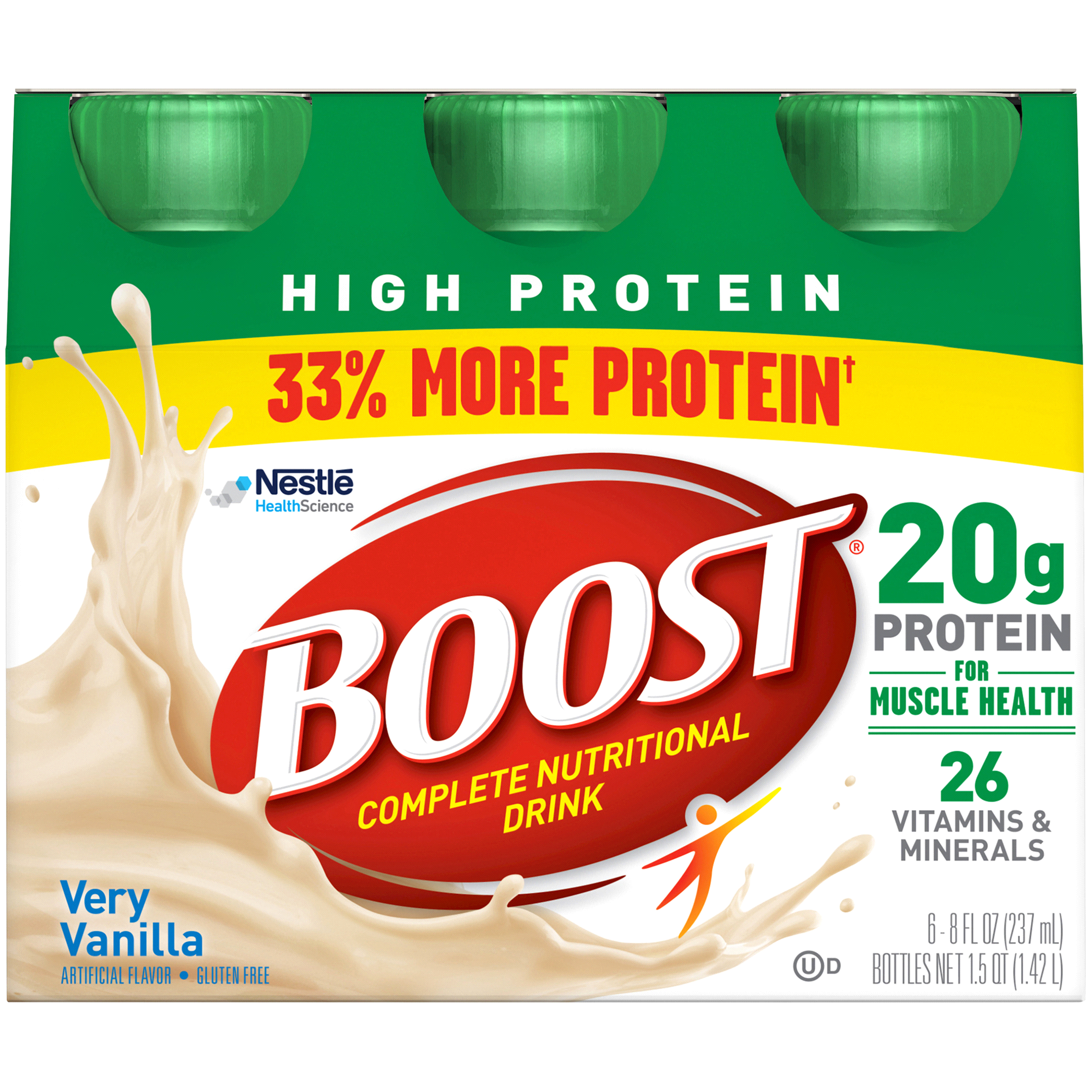 Boost High Protein Nutritional Energy Drink Vanilla 6 pk 8 oz