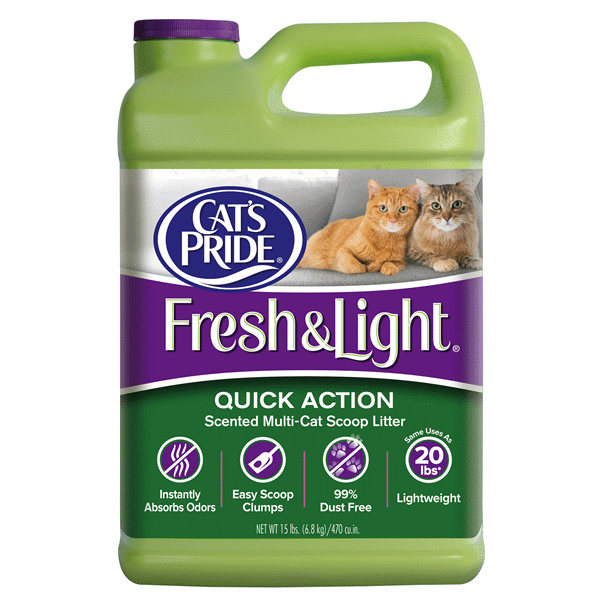 Cats Pride Fresh Light Scoopable Scented Cat Litter Multi Cat 15 Lb