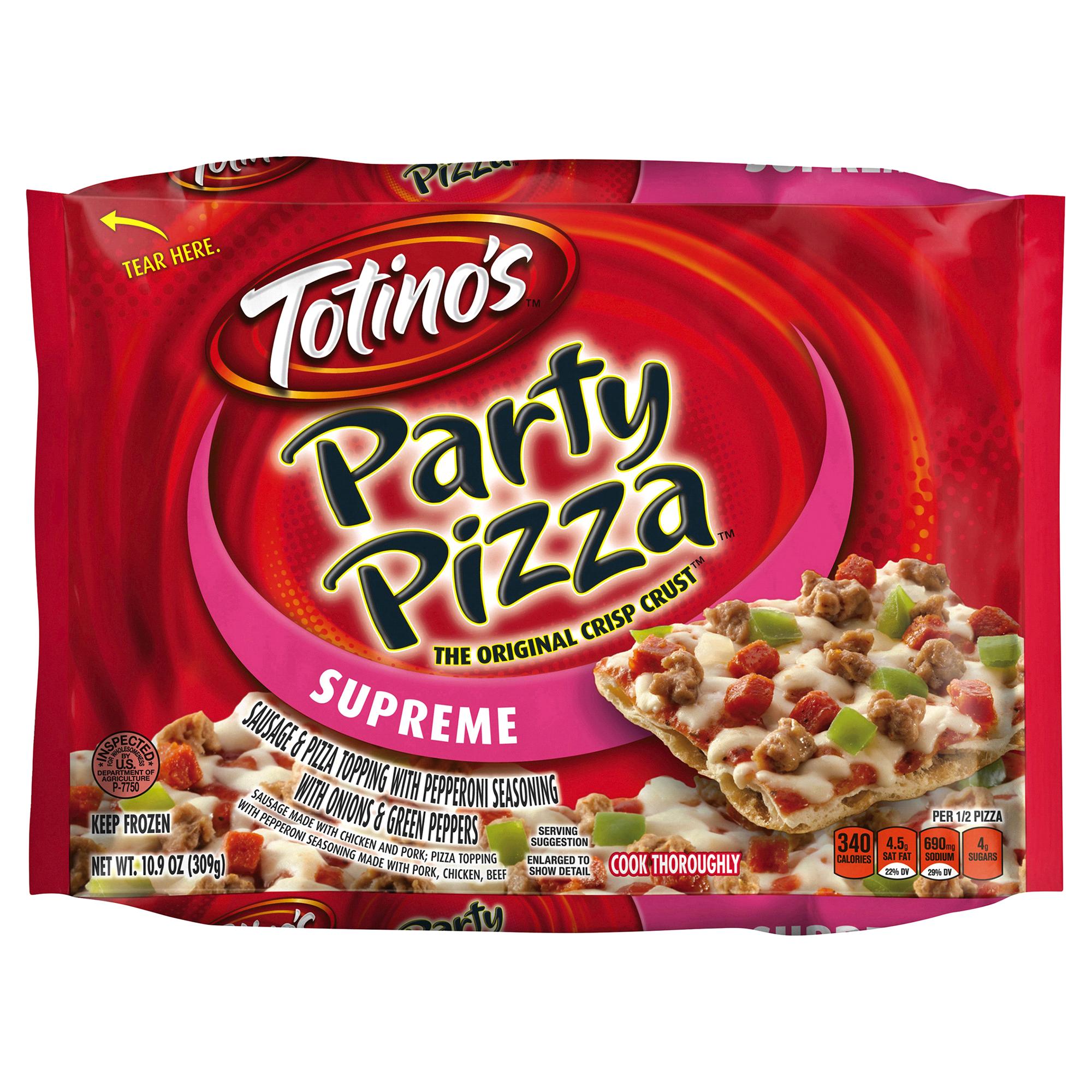 totinos supreme party pizza 10.9 oz box | meijer