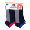 Meijer.com deals on Fruit of the Loom Boys No Show Socks Black/Multi 6 Pairs
