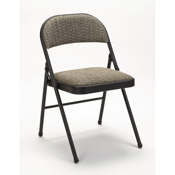 Meco Sudden Comfort Padded Folding Chair Courtyard/Black Lace | Meijer.com