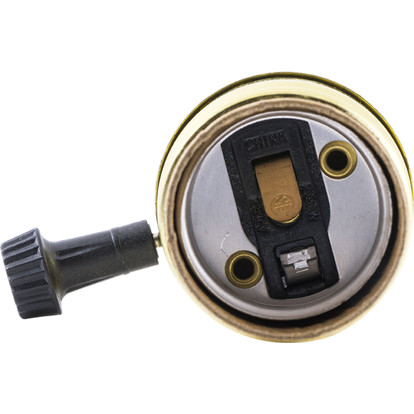 GE 3 Way Lamp Socket Brass