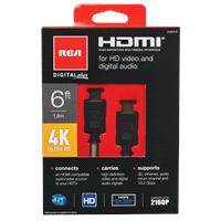RCA Digital + 4K 6 HDMI cable DH6HHF