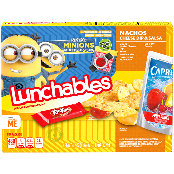Oscar Mayer Lunchables Nacho Cheese Dip & Salsa with Capri Sun Convenience  Meals 10.7 oz Box