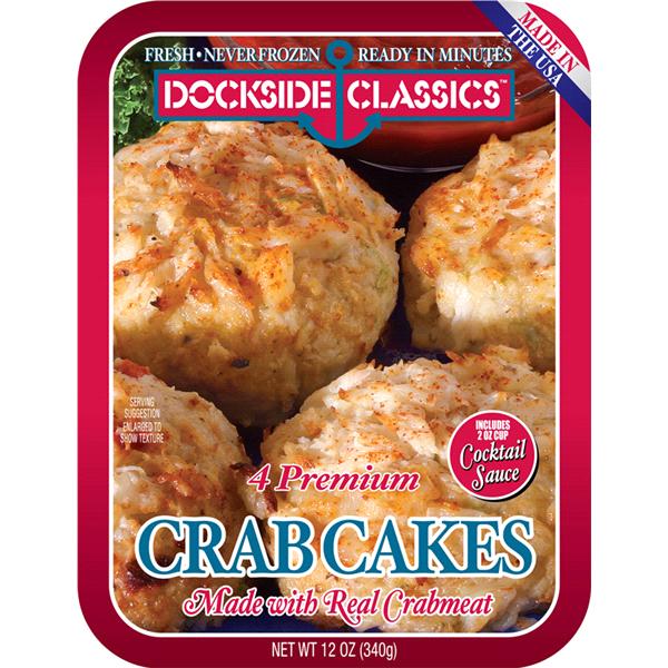 Dockside Classics Premium Crab Cakes 4 Ct 12 Oz Meijer