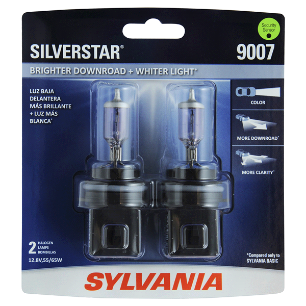 SYLVANIA 9007 SilverStar Headlight 2 Pack