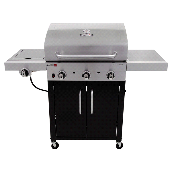 Char-Broil Performance TRU-Infrared 450 3-Burner Cabinet Gas Grill ...