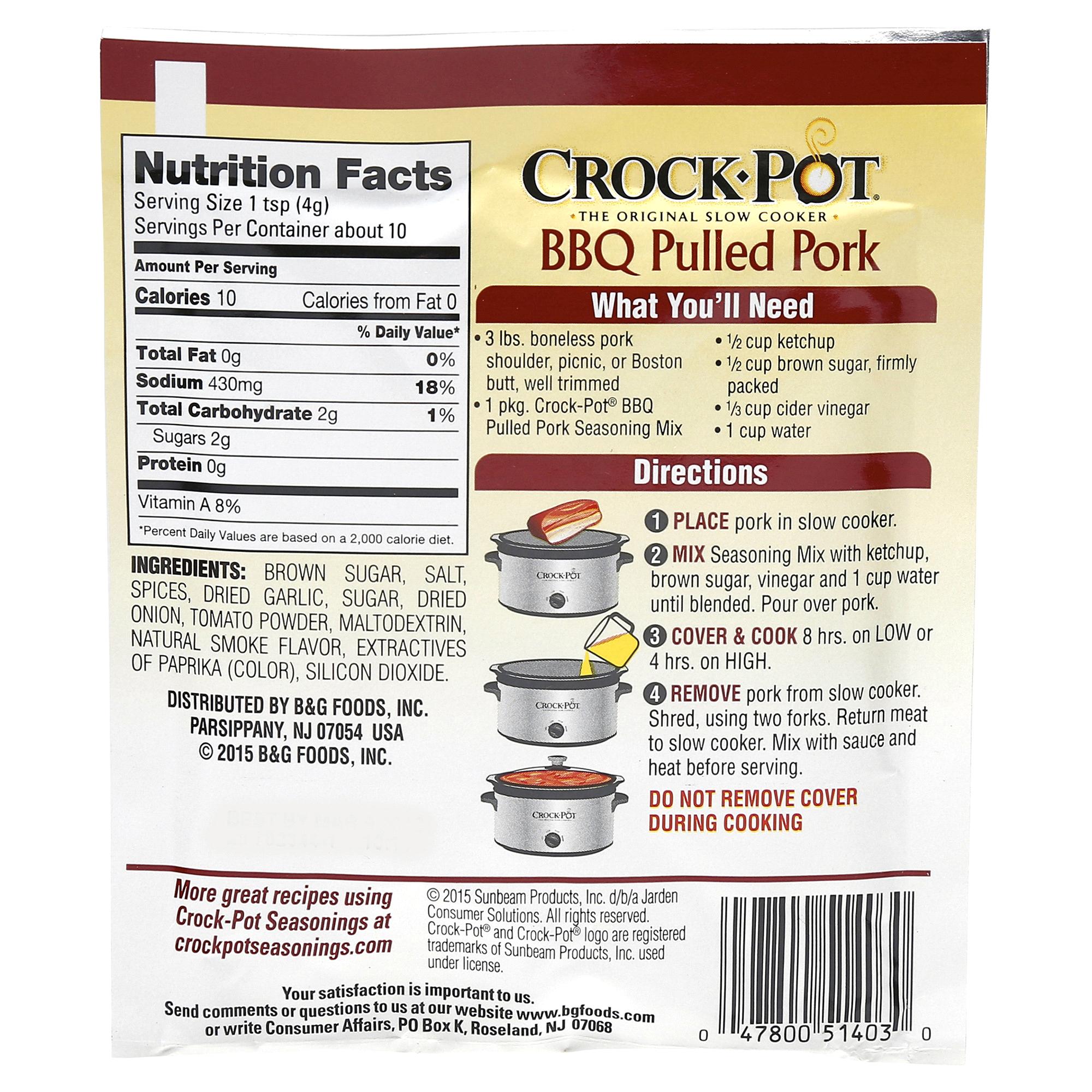 crockpot bbq pulled pork seasoning