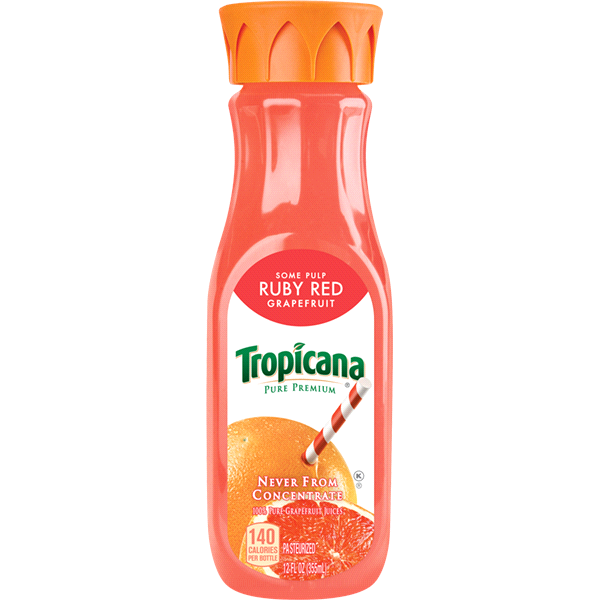 e46758322b Tropicana Pure Premium Red Grapefruit Juice 12 Fluid Ounce