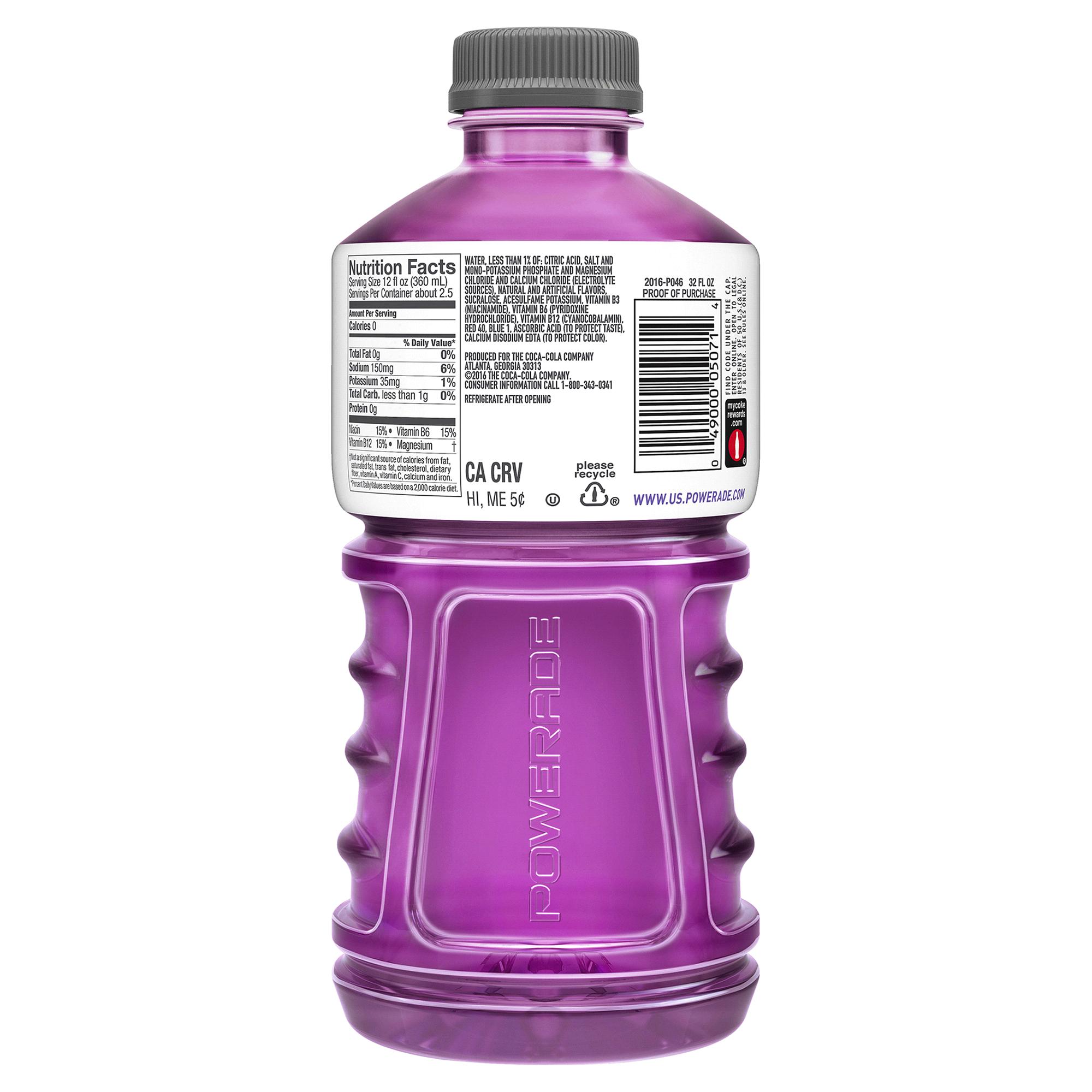 Powerade Zero Grape 32 Oz Bottle Meijer Com