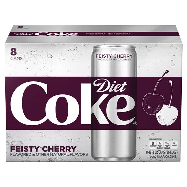 Diet Coke Feisty Cherry 12 Oz 8 Pack Slim Meijer Com