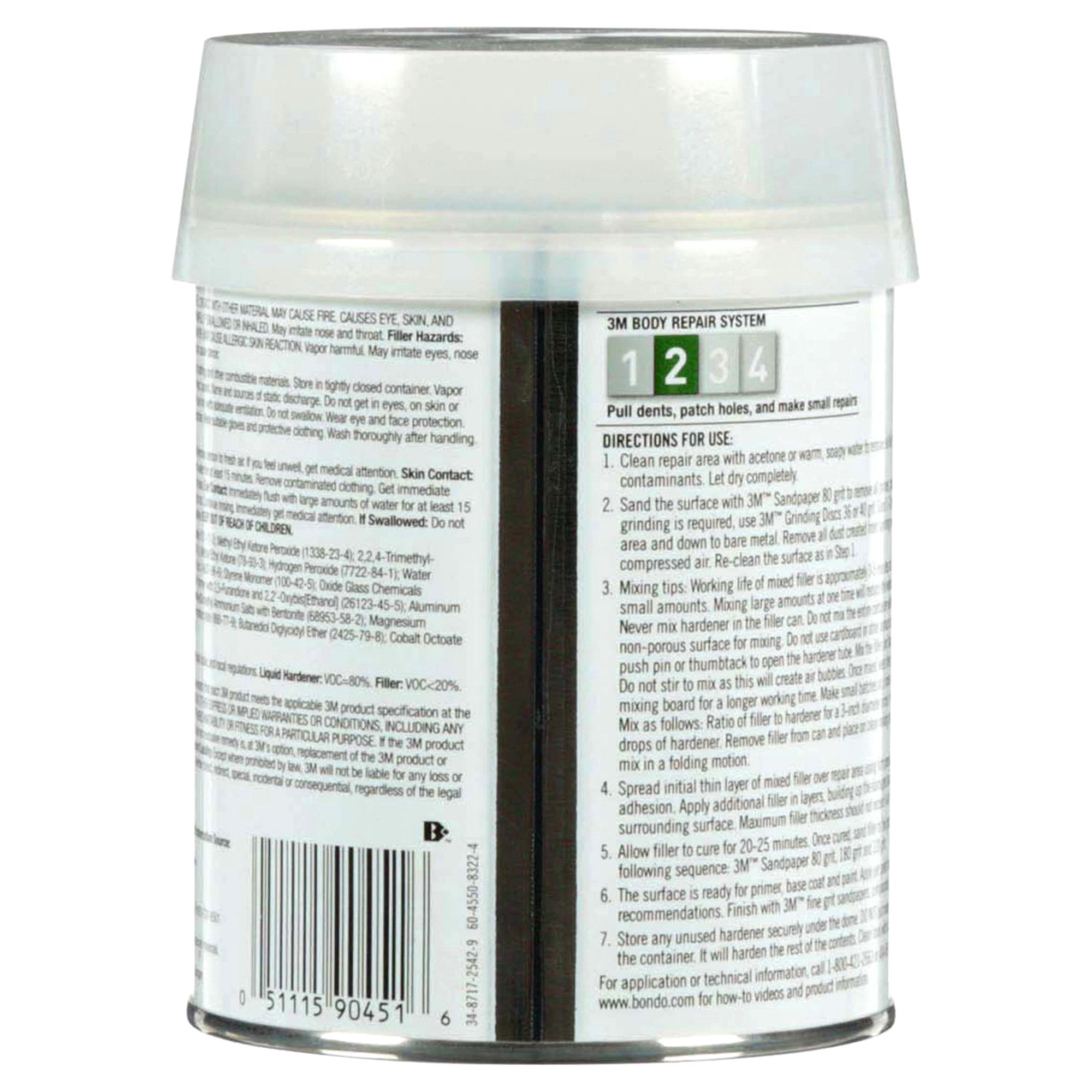 Bondo® Metal Reinforced Filler 0.7 Pint   Meijer.com