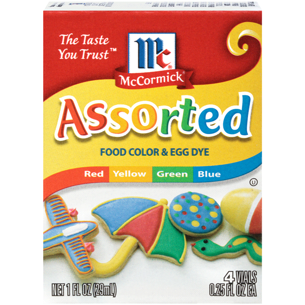 McCormick Assorted Food Color & Egg Dye Pack of 4 (0.25 oz. each ...