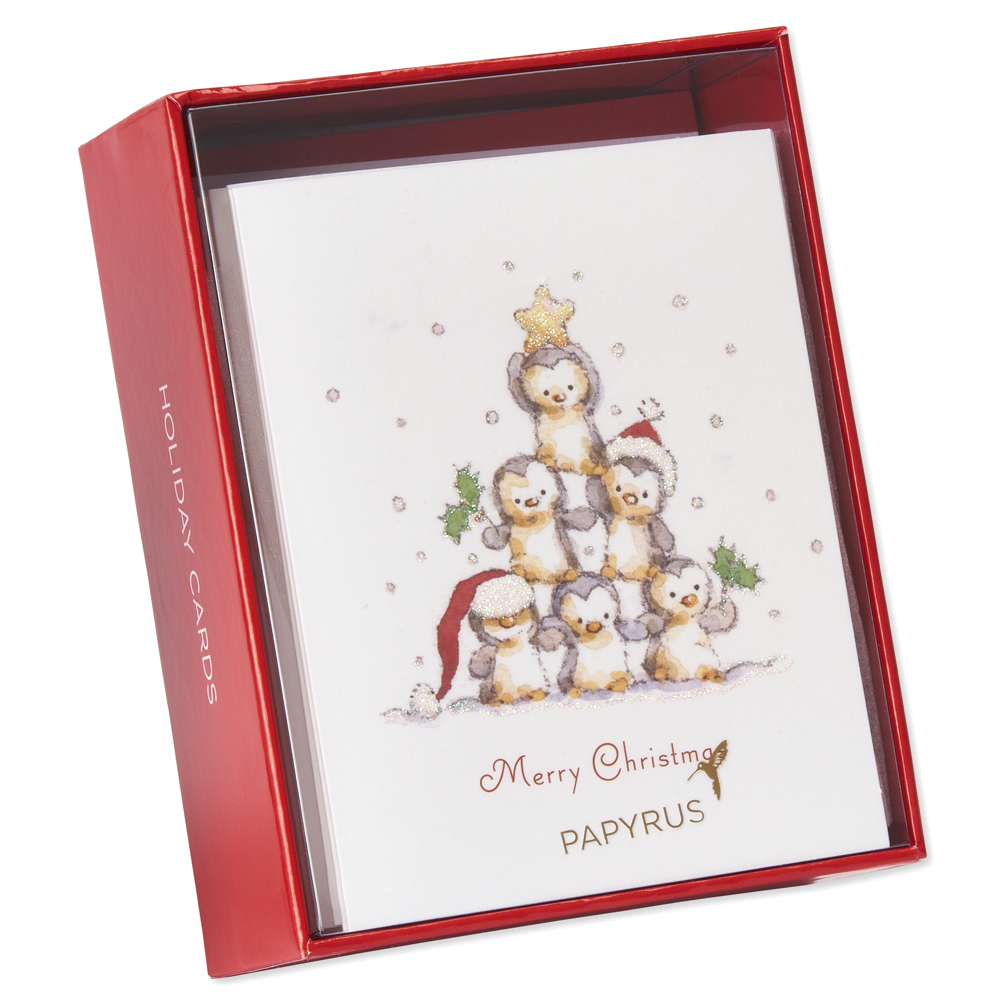 Papyrus Penguin Pyramid Holiday Boxed Cards   Meijer.com