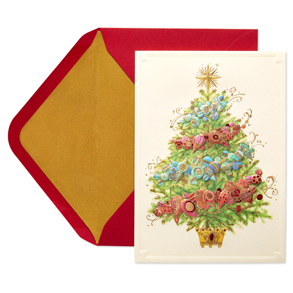 papyrus ombre tree aria holiday boxed cards - Papyrus Holiday Cards