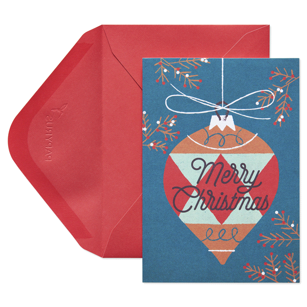 papyrus modern ornament eco holiday boxed cards - Papyrus Holiday Cards