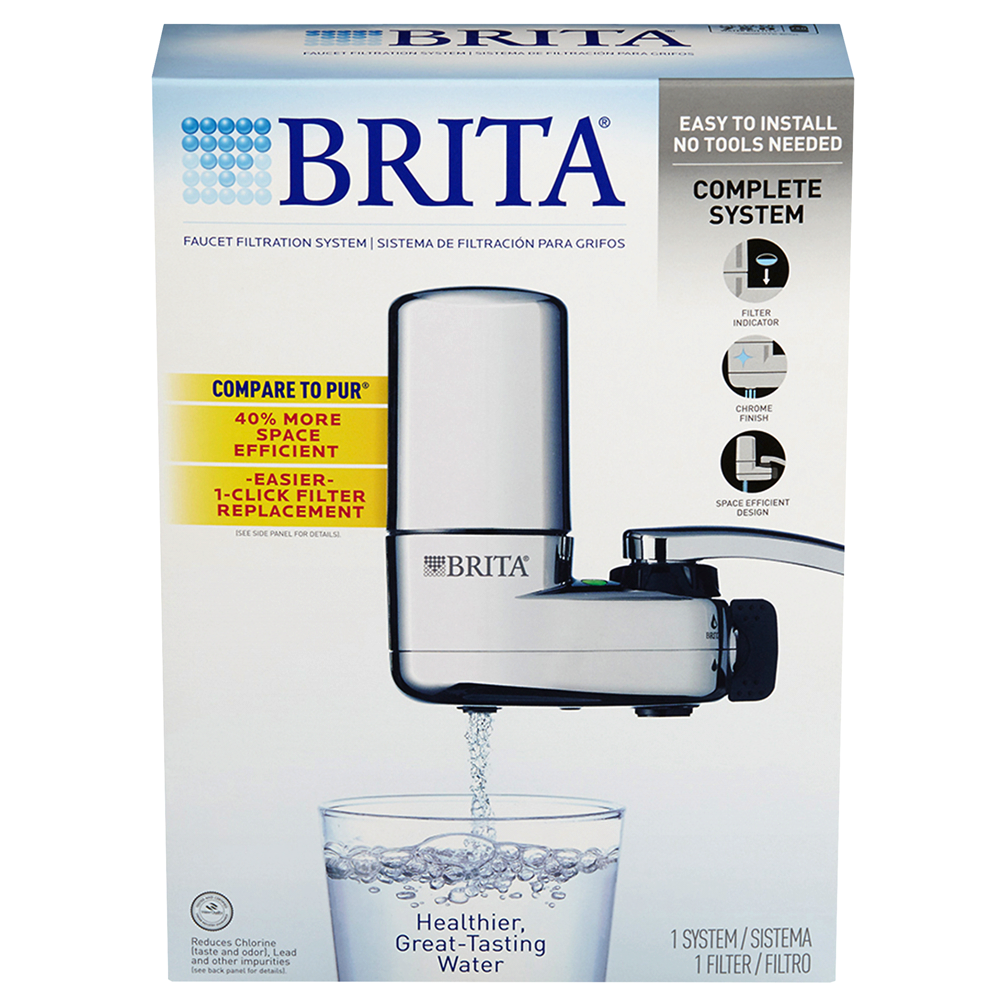 Brita® On Tap Faucet Water Filter System Chrome | Meijer.com