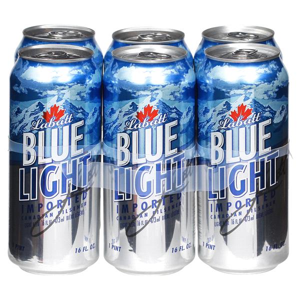 Labatt Blue Light Beer 16 Oz 6 Pk