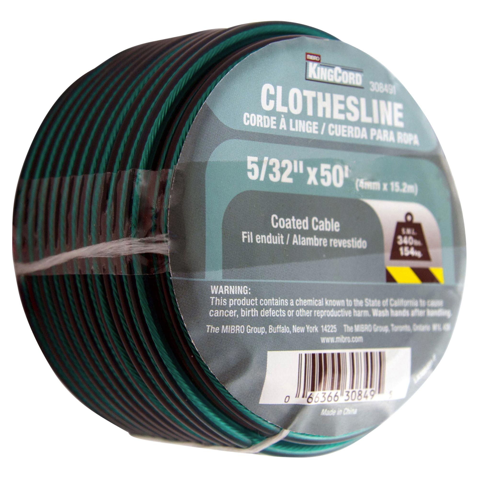 KingCord 5/32 x 50 PVC-Coated Wire Clothesline - Green   Meijer.com