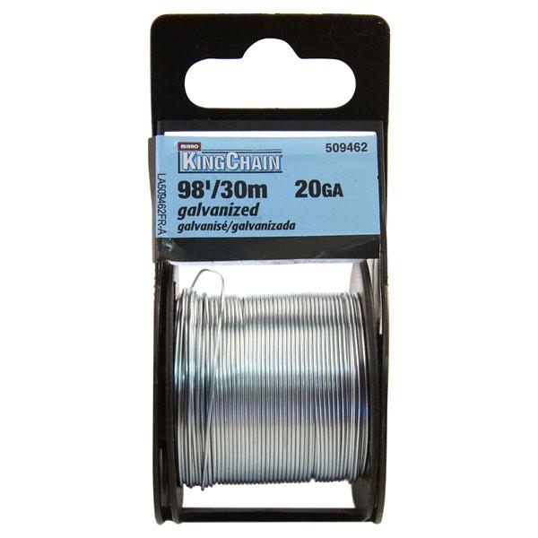 KingChain 20 Gauge x 98 Galvanized Steel Wire - Mini-Reel | Meijer.com