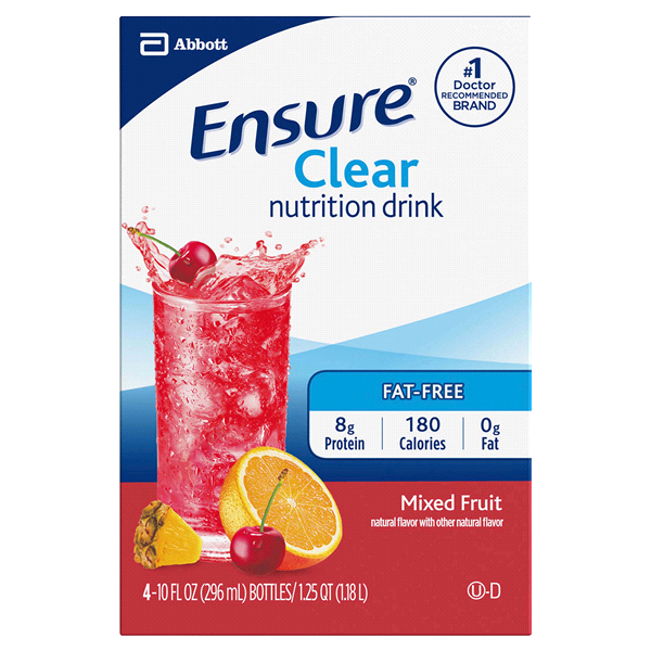 ensurea clear nutrition drink mixed fruit 10 fl oz pack of 4