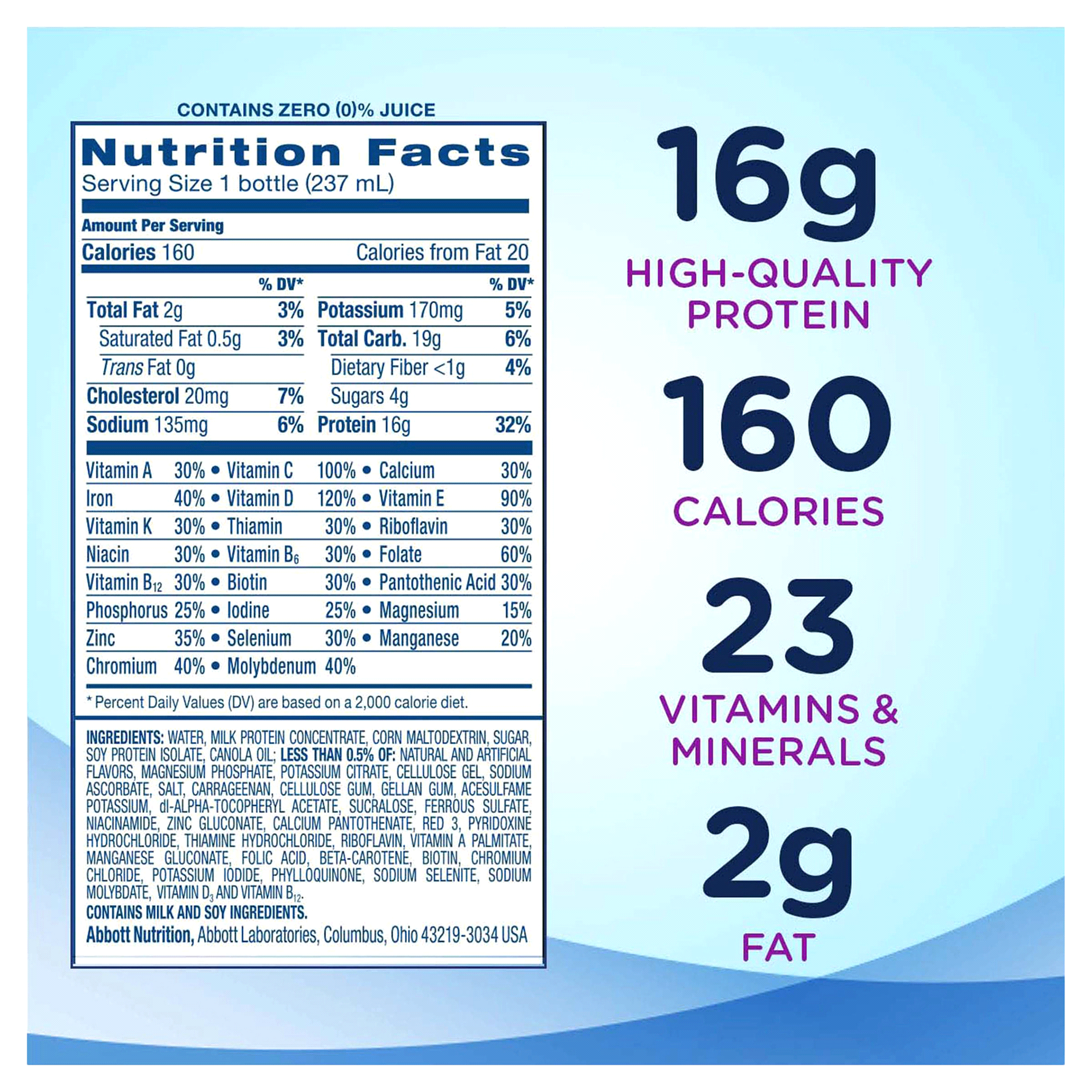 Ensure® High Protein Nutrition Shake Strawberry 8 fl oz Pack of 6 ...