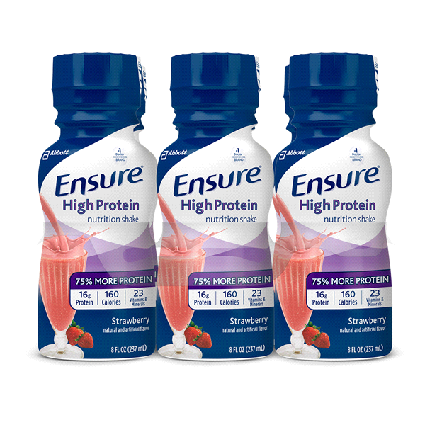Ensure® High Protein Nutrition Shake Strawberry 8 fl oz Pack of 6