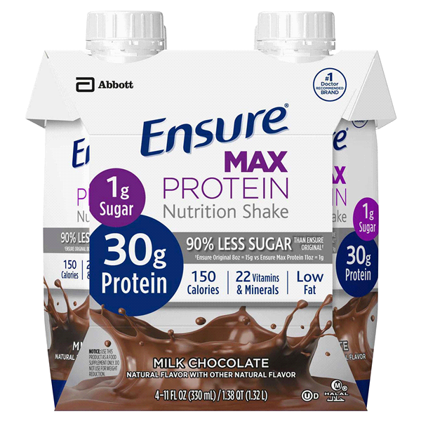 f04175df50090 Ensure® Max Protein Nutrition Shake Milk Chocolate 11 fl oz Pack of ...