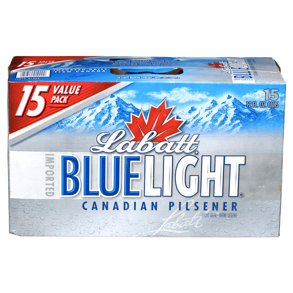 Labatt Blue Light Beer 12 Oz 15 Pk