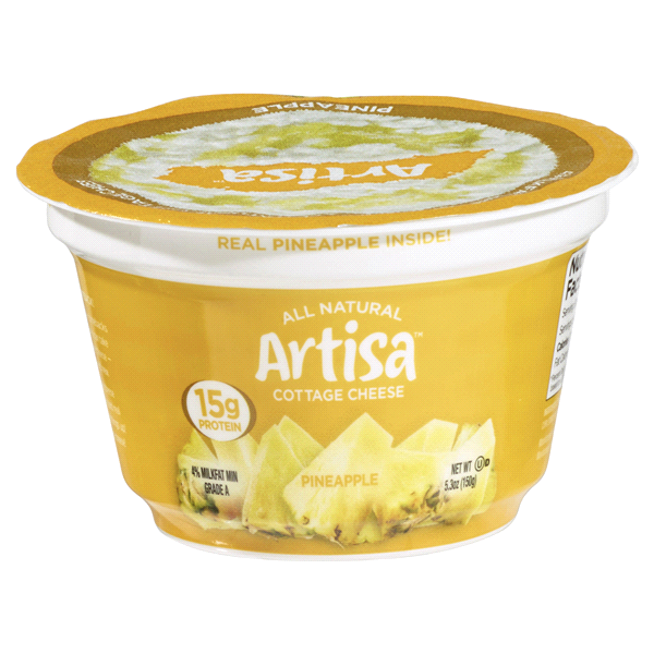 Artisa Cottage Cheese Pineapple 53 Oz