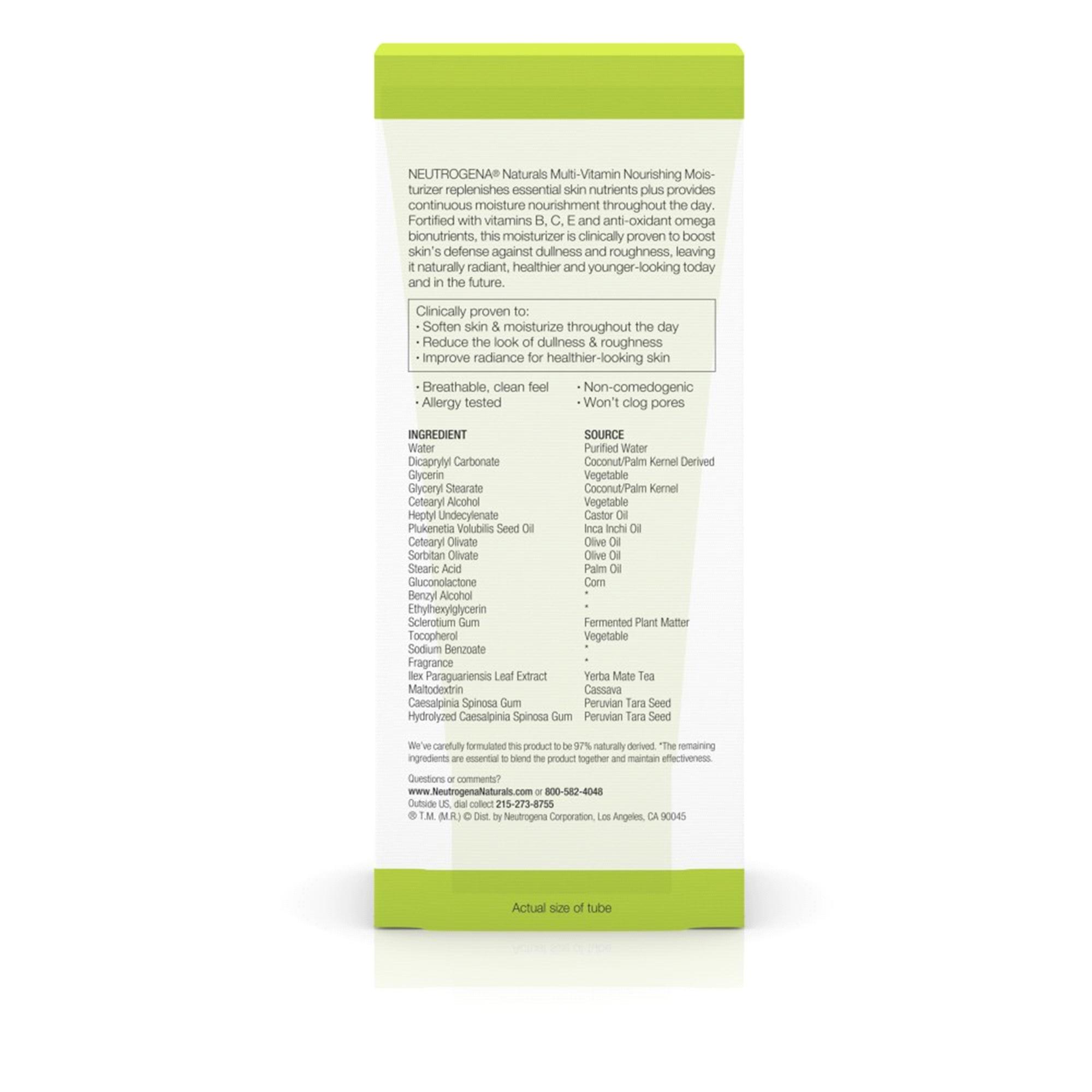Neutrogena Naturals Multi-Vitamin Nourishing Moisturizer 3 Fl  Oz