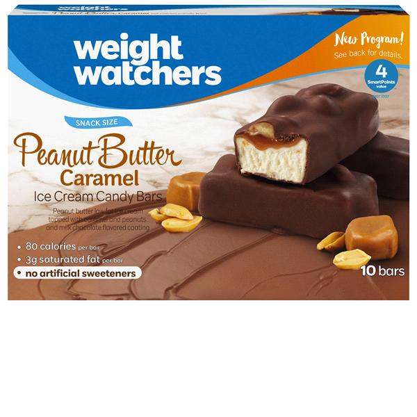 Weight Watchers Peanut Butter Caramel Ice Cream Candy Bars 12 Oz 10