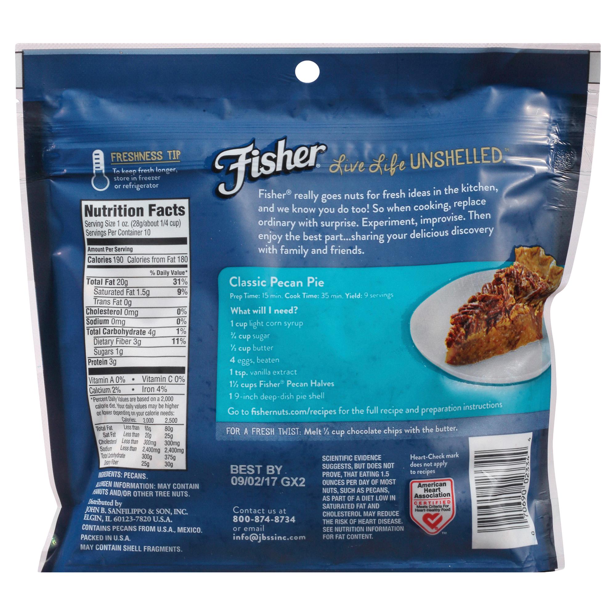 Fisher Chefs Naturals Pecan Halves 10 oz | Meijer.com