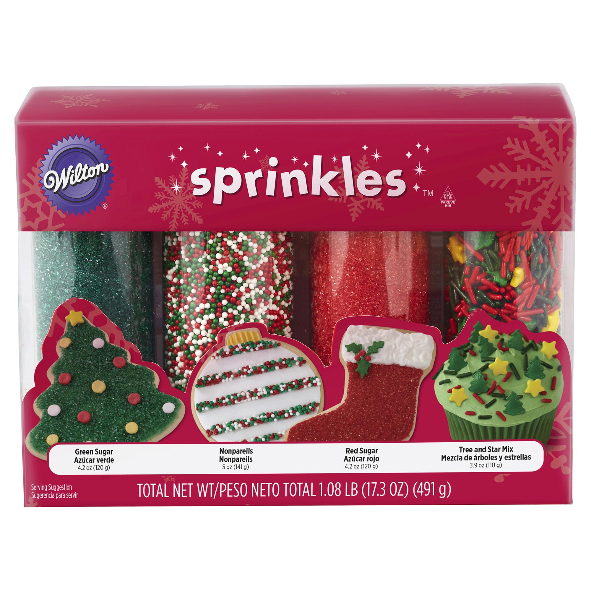 Wilton Holiday Sprinkles 4-Pack | Meijer.com