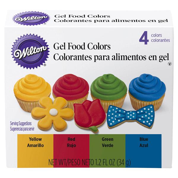 Wilton Primary Gel Food Colors Set 4-Piece | Meijer.com