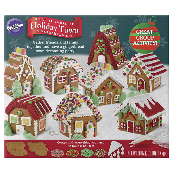 Wilton build it yourself holiday town gingerbread house decorating wilton build it yourself holiday town gingerbread house decorating kit solutioingenieria Choice Image