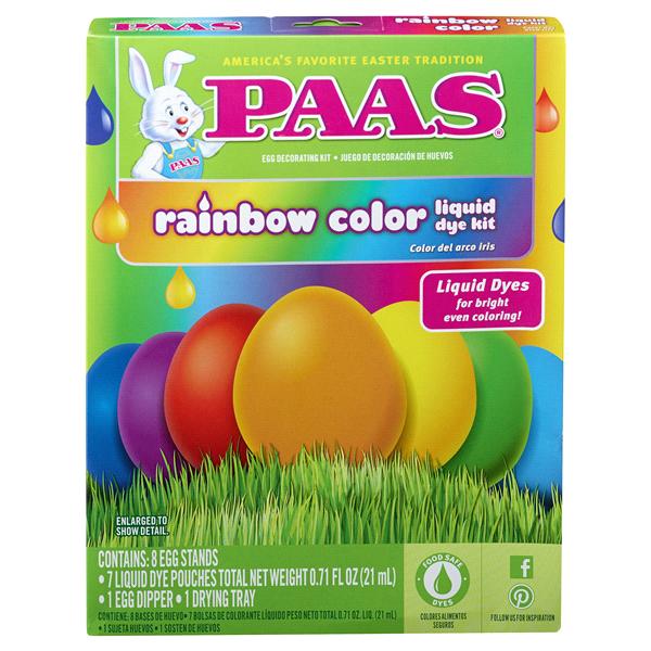 Paas Easter Egg Dye Kit Rainbow | Meijer.com